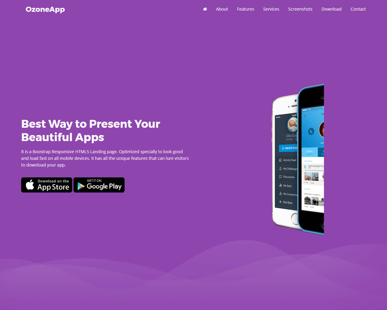 Ozone App Website Template