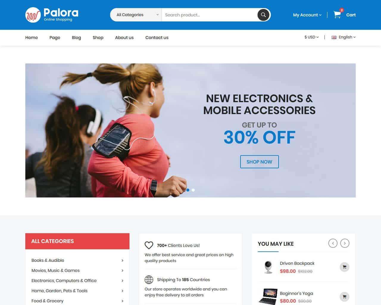 Palora Website Template