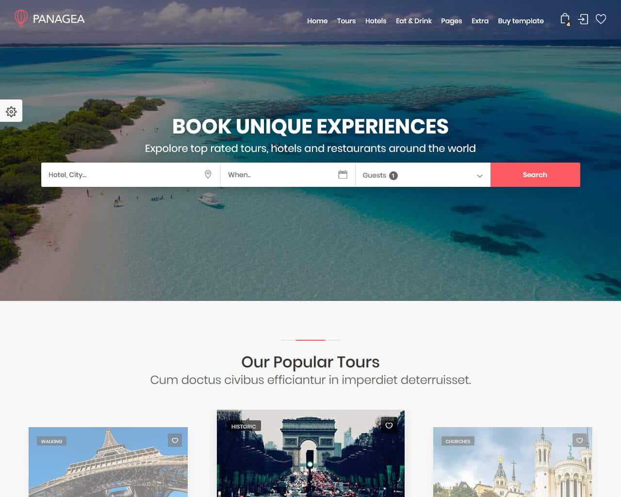Panagea Website Template