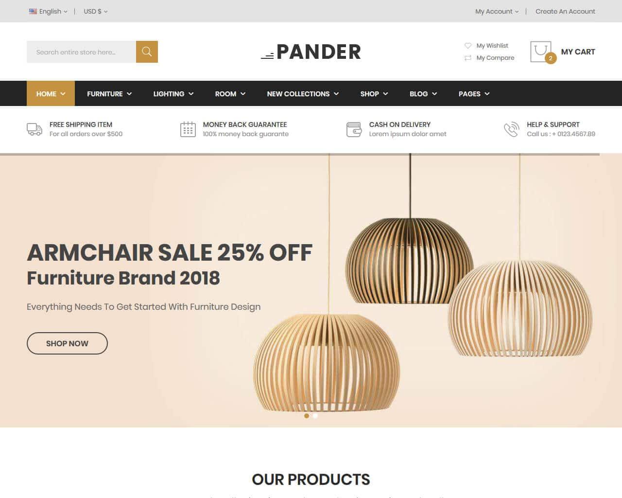 Pander Website Template