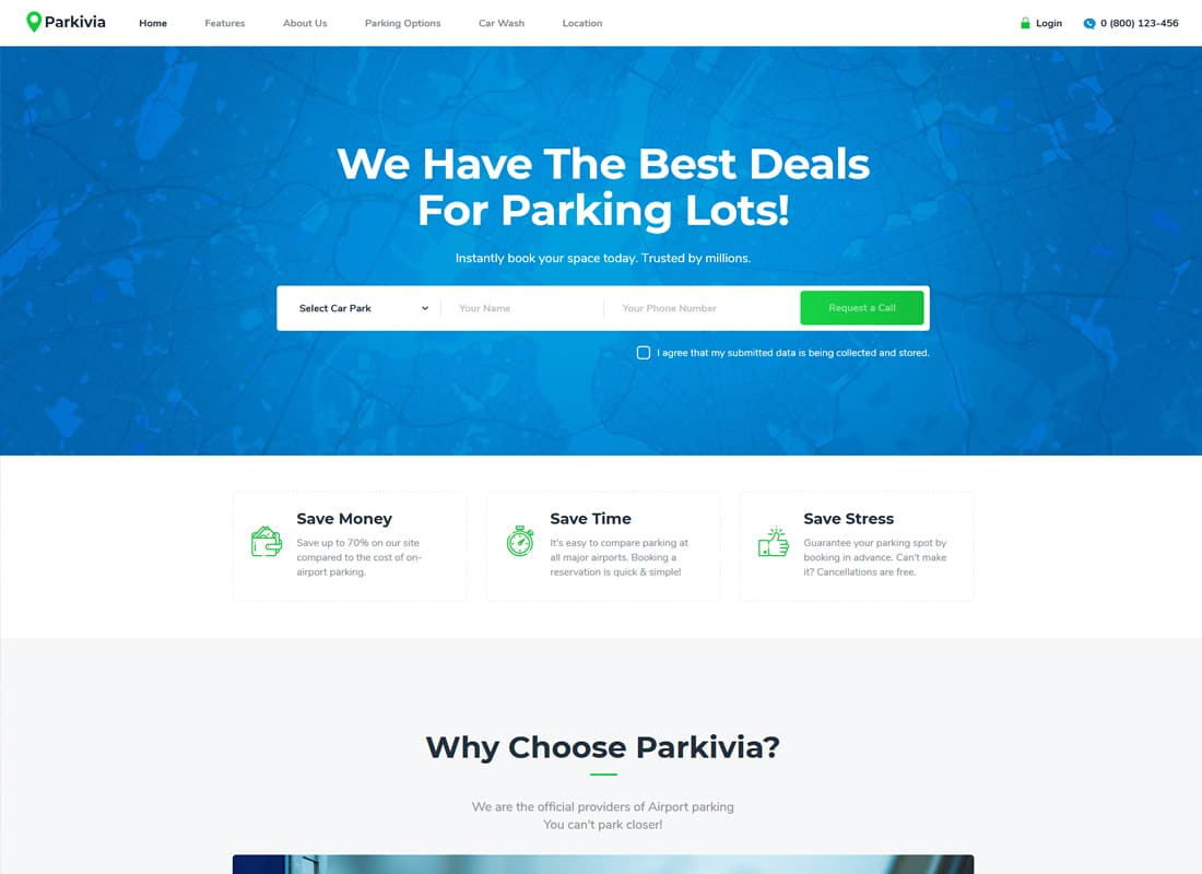 Parkivia | Auto Parking & Car Maintenance WordPress Theme Website Template