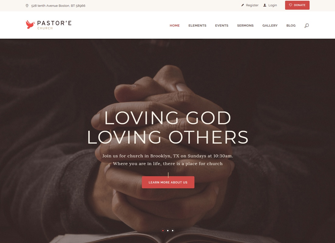 Pastor'e | Church, Religion & Charity WordPress Theme Website Template