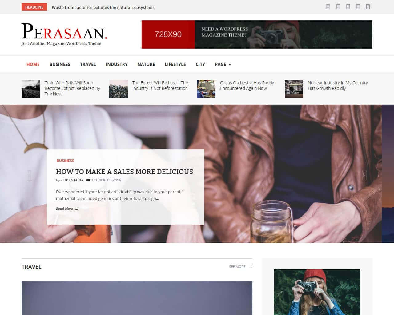 Perasaan Website Template