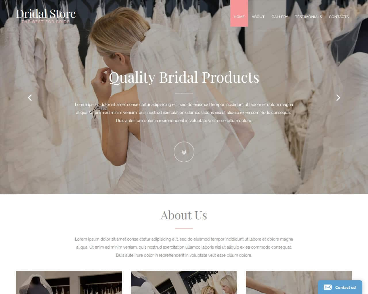 Perfect Bride Website Template