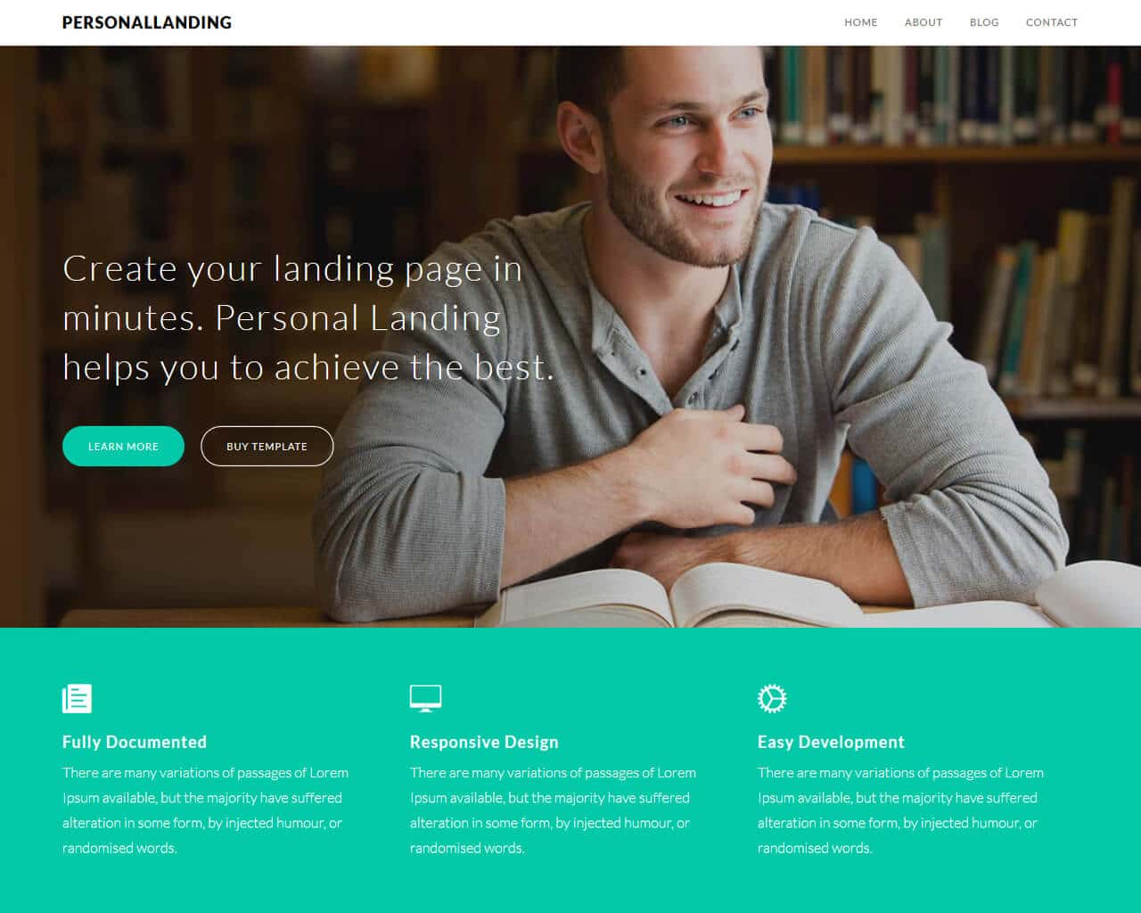 PersonalLanding Website Template