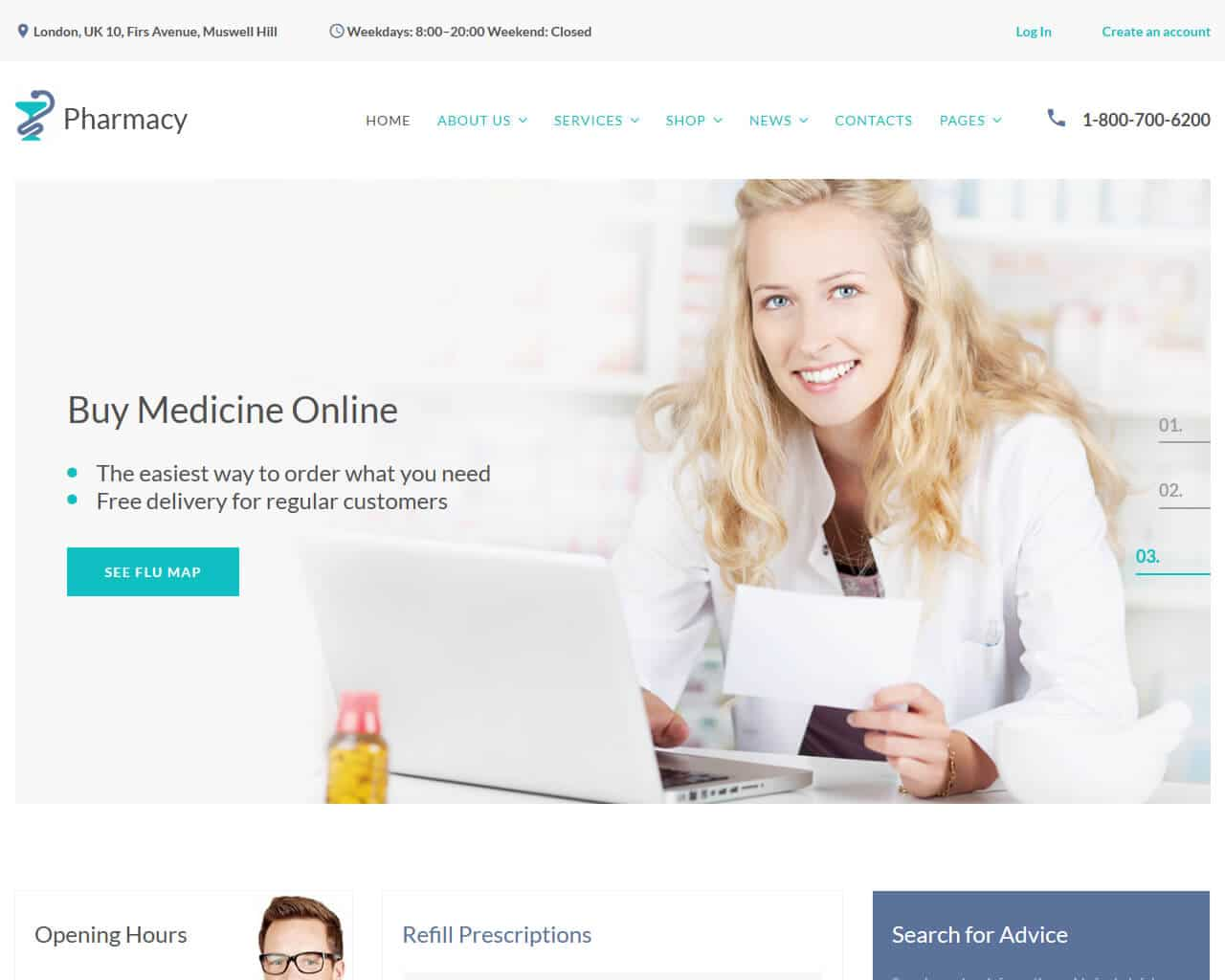 Pharmasy Website Template