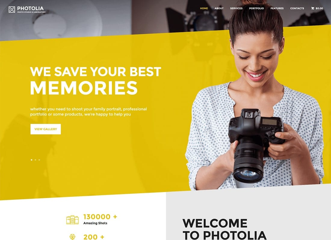 Photolia | Photo Company & Photo Supply Store WordPress Theme Website Template