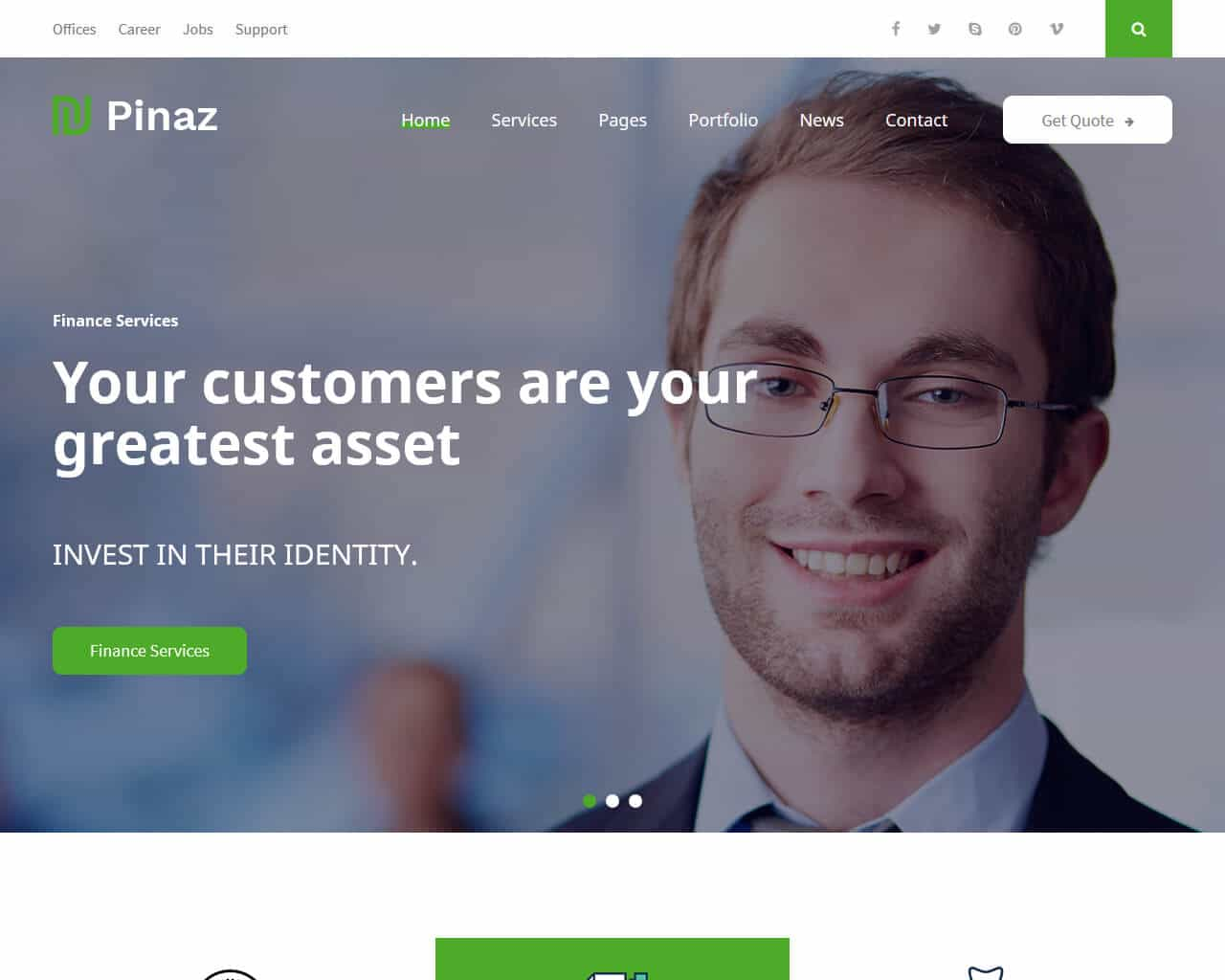 Pinaz Website Template