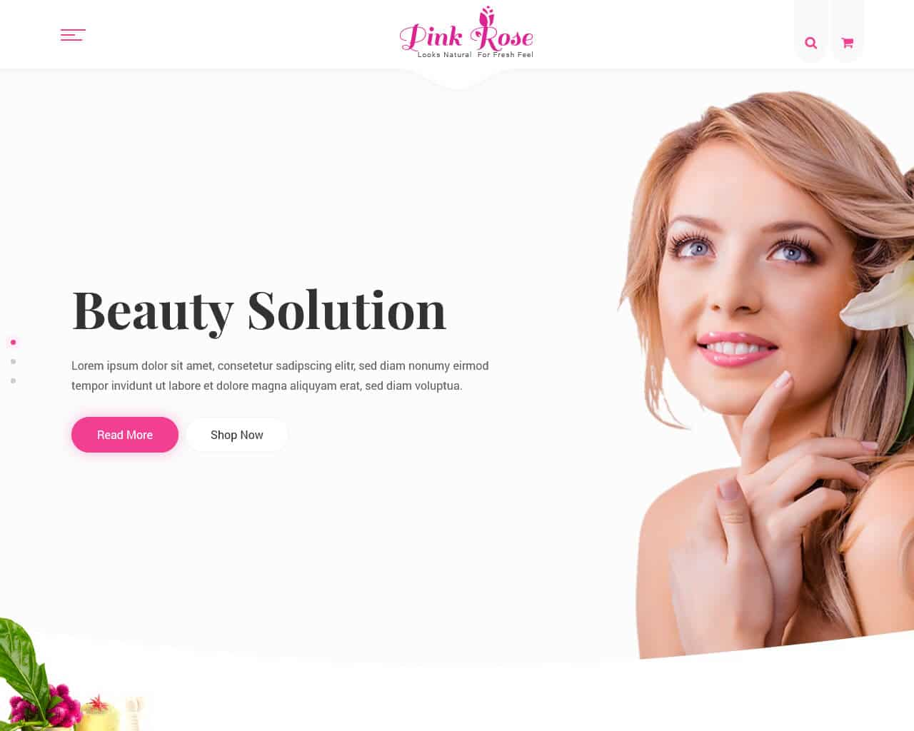 Pink Rose Website Template