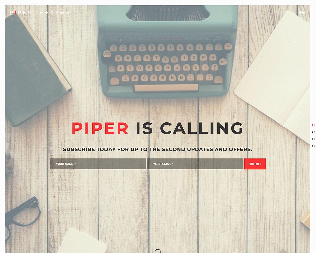Piper – Creative Bootstrap Template