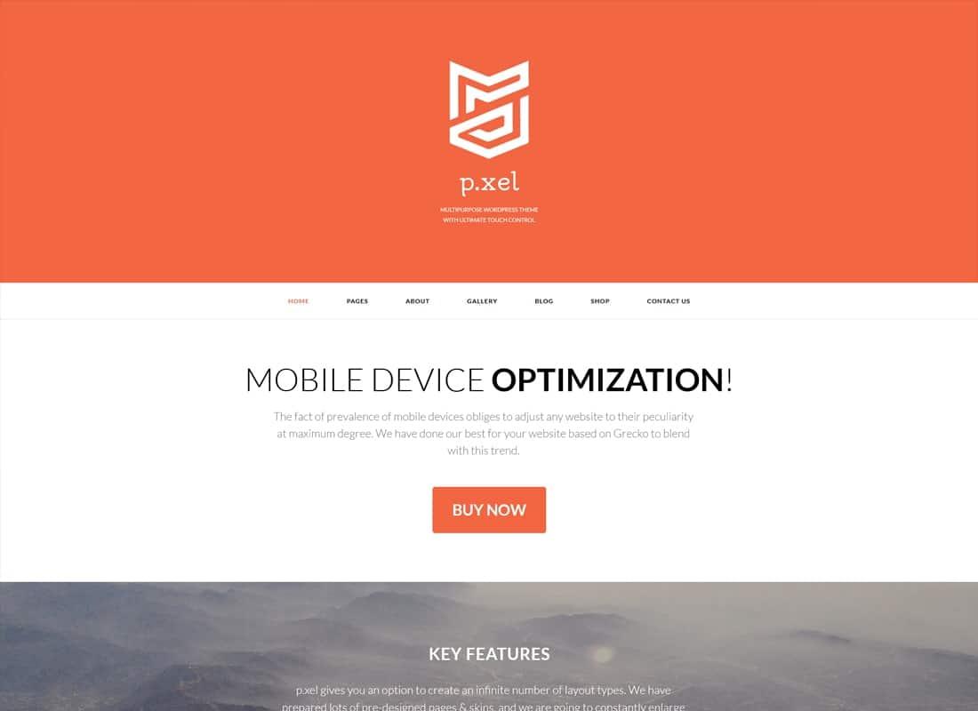 Pixel   A Modern Multi-Purpose WordPress Theme Website Template