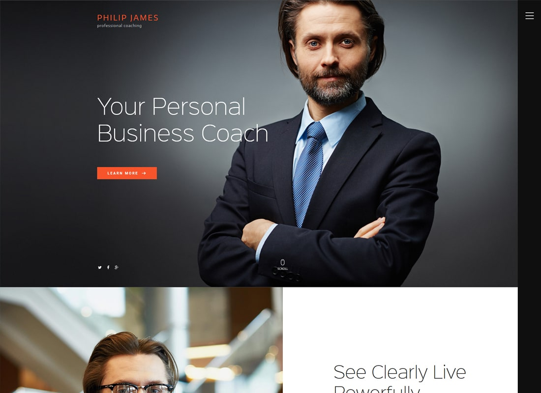 PJ | Life & Business Coaching WordPress Theme Website Template