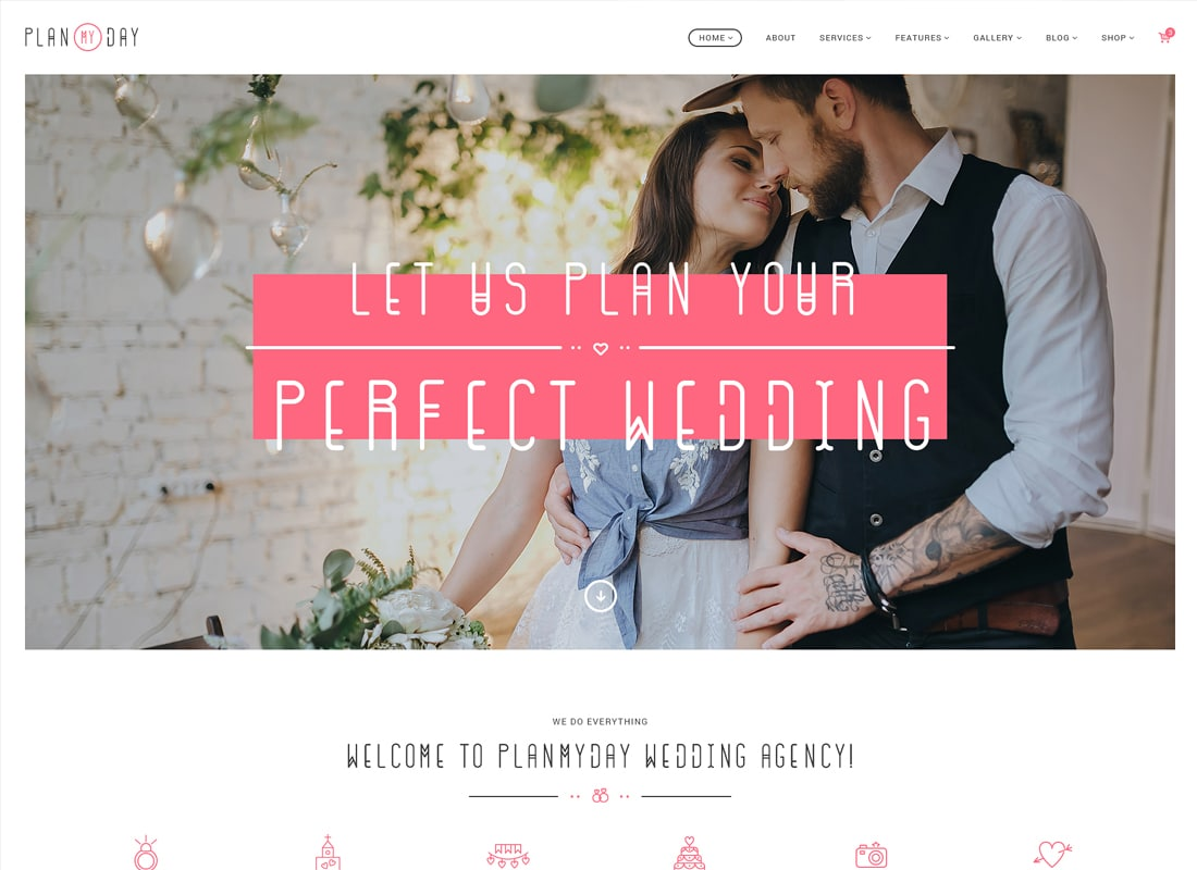 Plan My Day - Wedding & Event Planning Agency WordPress Theme Website Template