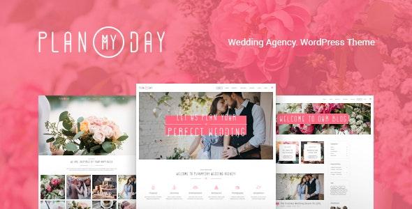 Plan My Day | Wedding / Event Planning Agency WordPress Theme Website Template