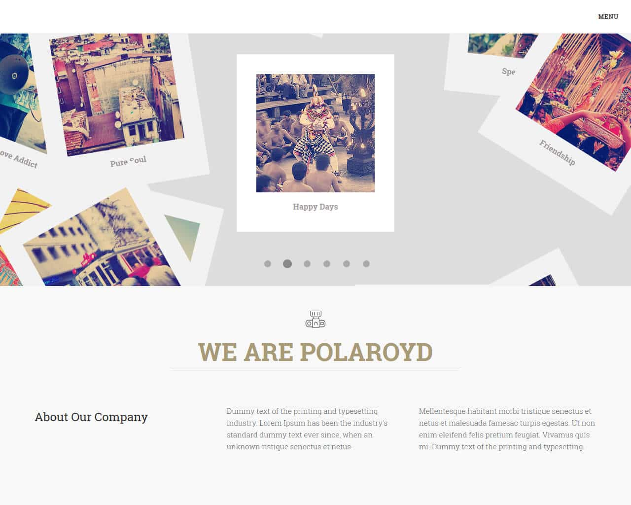 Polaroyd Website Template