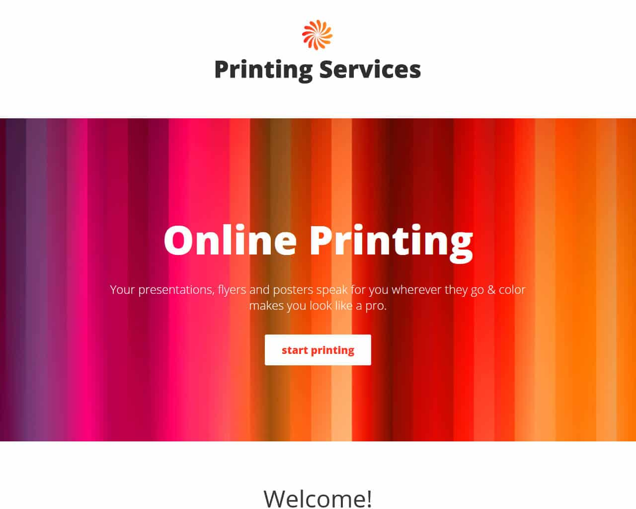 Printing Services Website Template