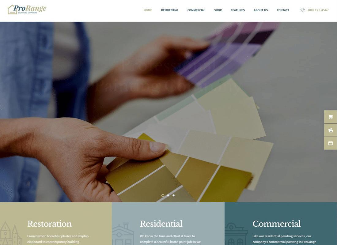 ProRange | Painting & Renovation Construction Company WordPress Theme Website Template
