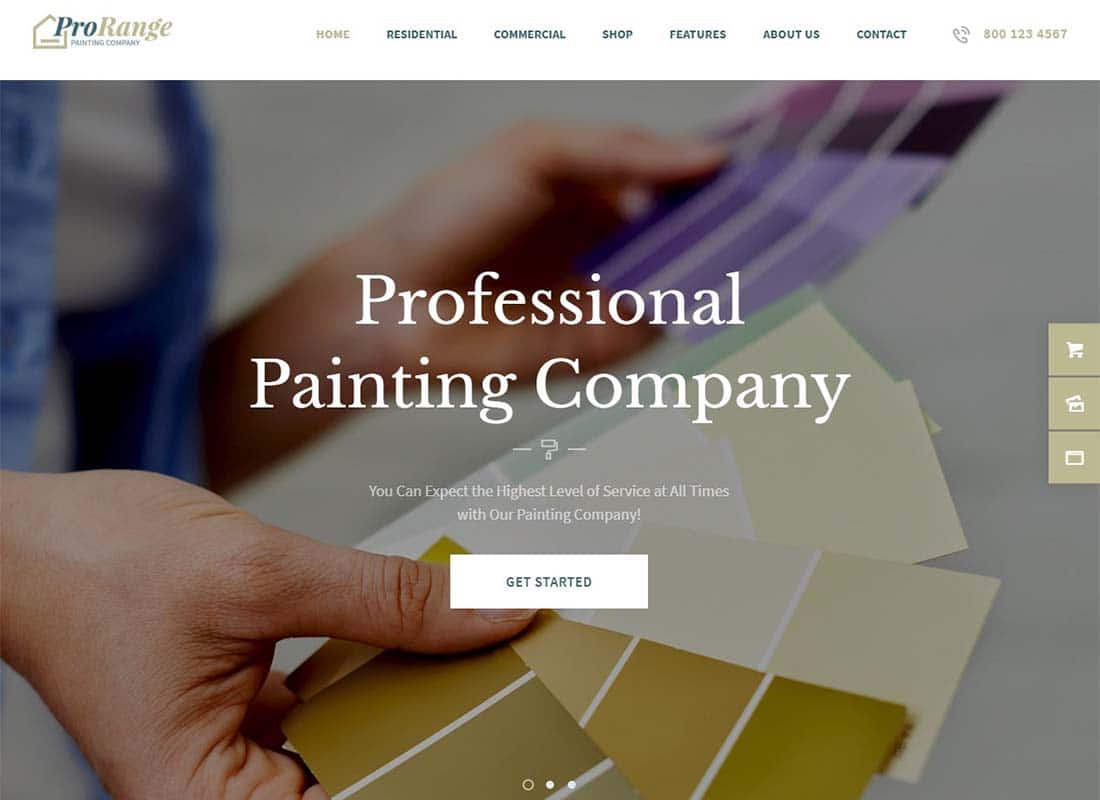 ProRange | Painting Company WordPress Theme Website Template