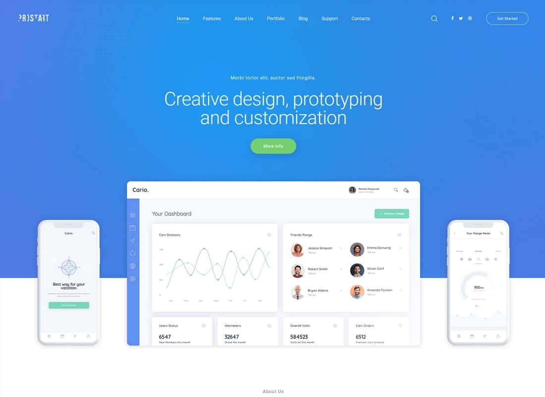 ProStart   Startup & Corporate WordPress Theme Website Template
