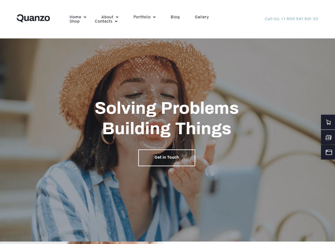 Quanzo - Creative Portfolio Template Kit Website Template