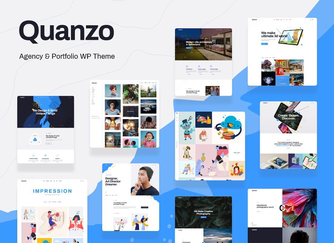 Quanzo - Personal Portfolio WordPress Theme Website Template