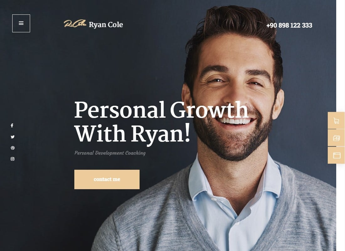R.Cole | Life & Business Coaching WordPress Theme Website Template