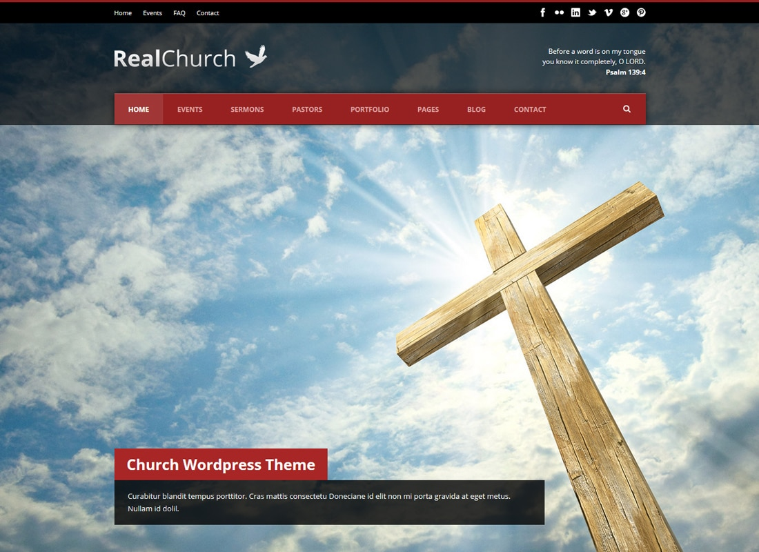 Real Church | Responsive Church WordPress Theme Website Template