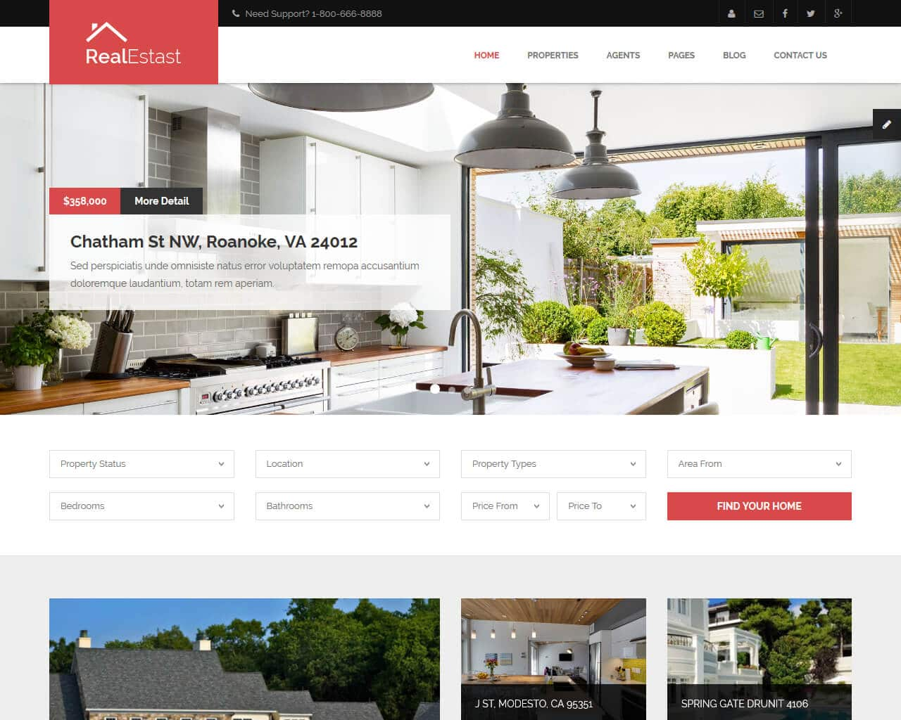 Best Real Estate Website Templates To Sell Properties 2018