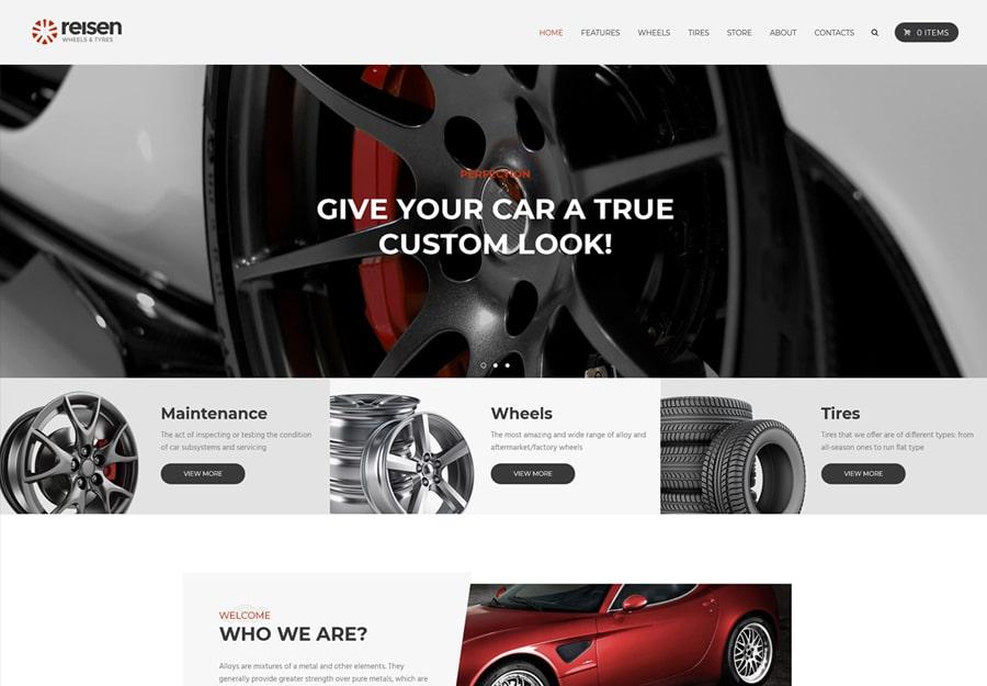 Reisen | Automechanic & Auto Body Repair Car WordPress Theme Website Template