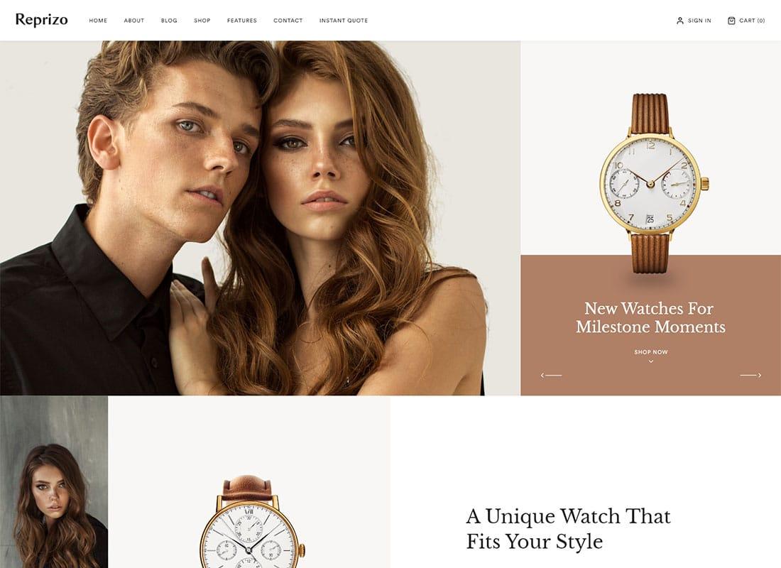 Reprizo | Jewelry & Watch Shop WordPress Theme Website Template