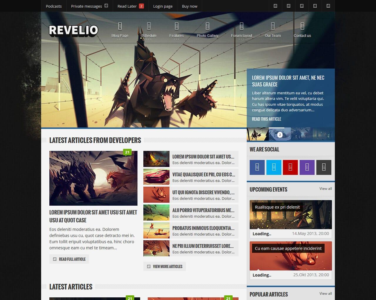 Revelio Website Template