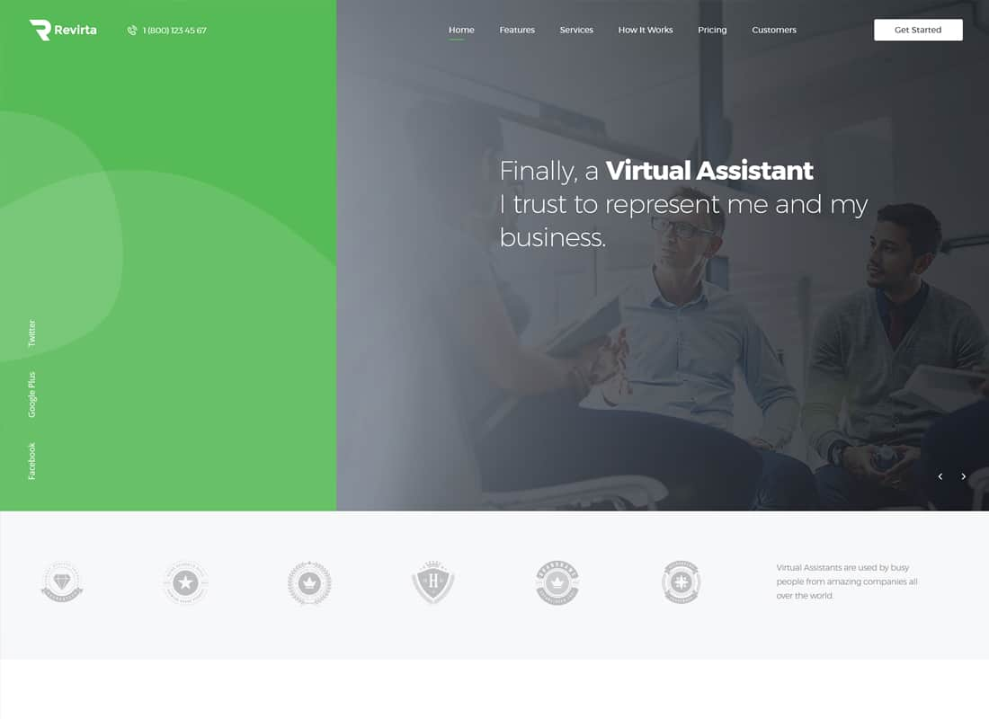 Revirta | Virtual Assistant WordPress Theme Website Template