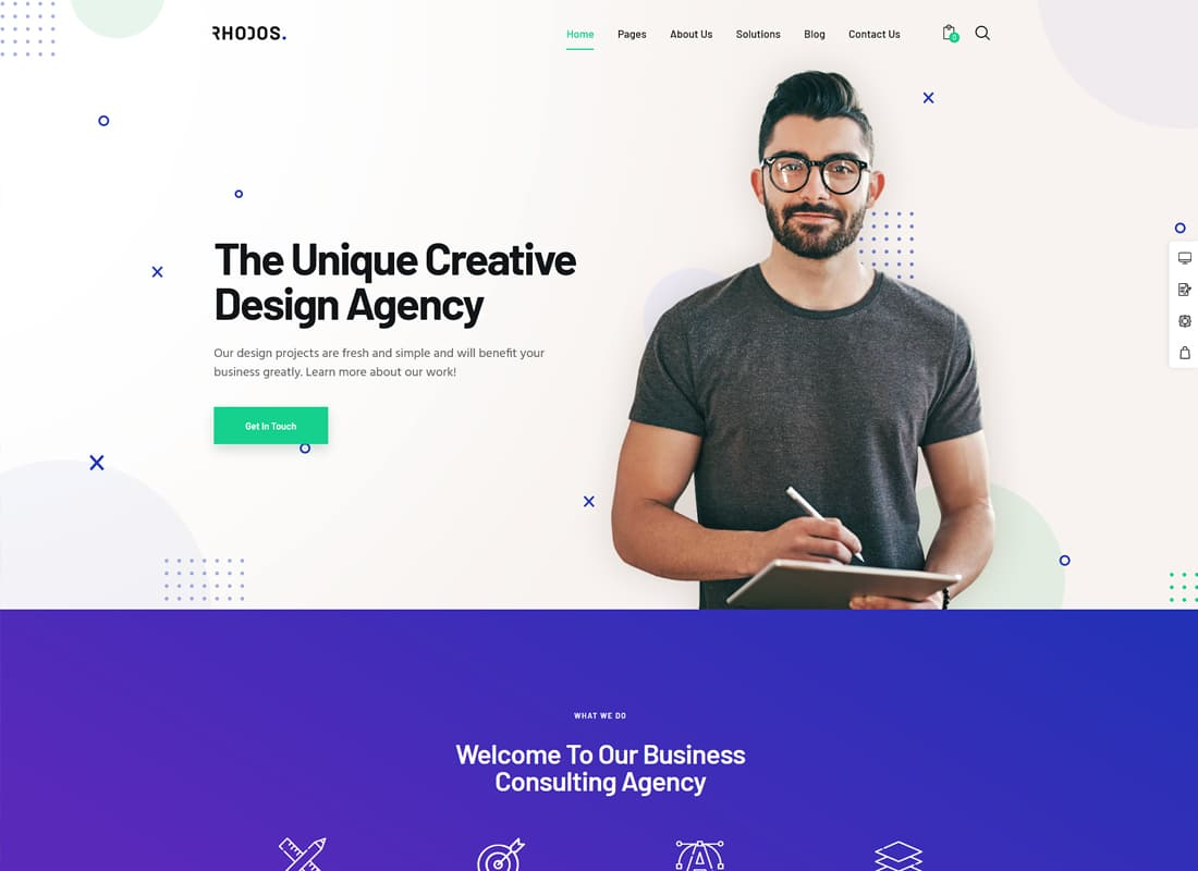 Rhodos - A Colossal Multipurpose WordPress Theme for Business & Portfolio   Website Template