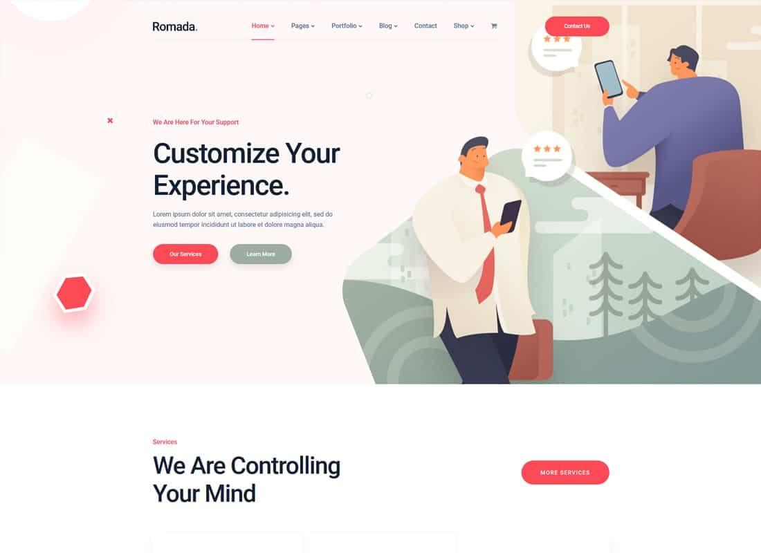 Romada - Startup Agency WordPress Theme Website Template