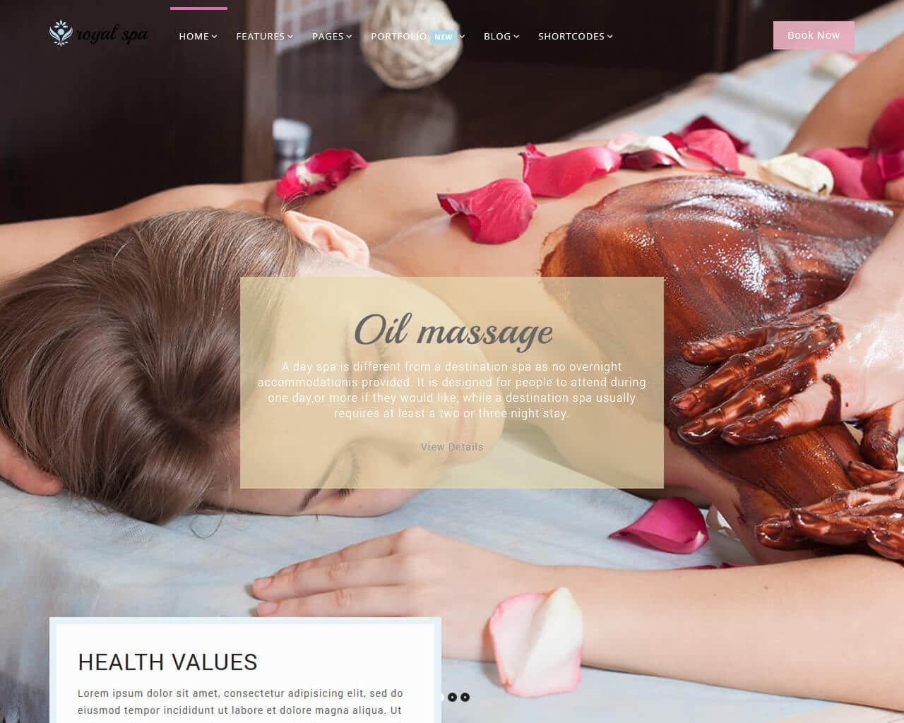 Royal Spa Website Template