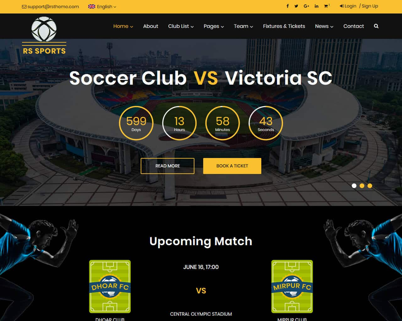 RS Sports Website Template