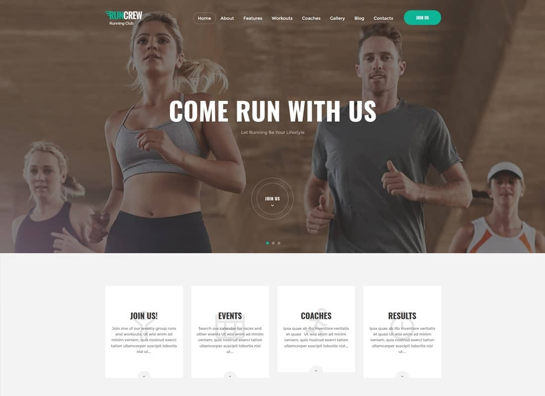 RunCrew | Running Club, Marathon & Sports WordPress Theme Website Template