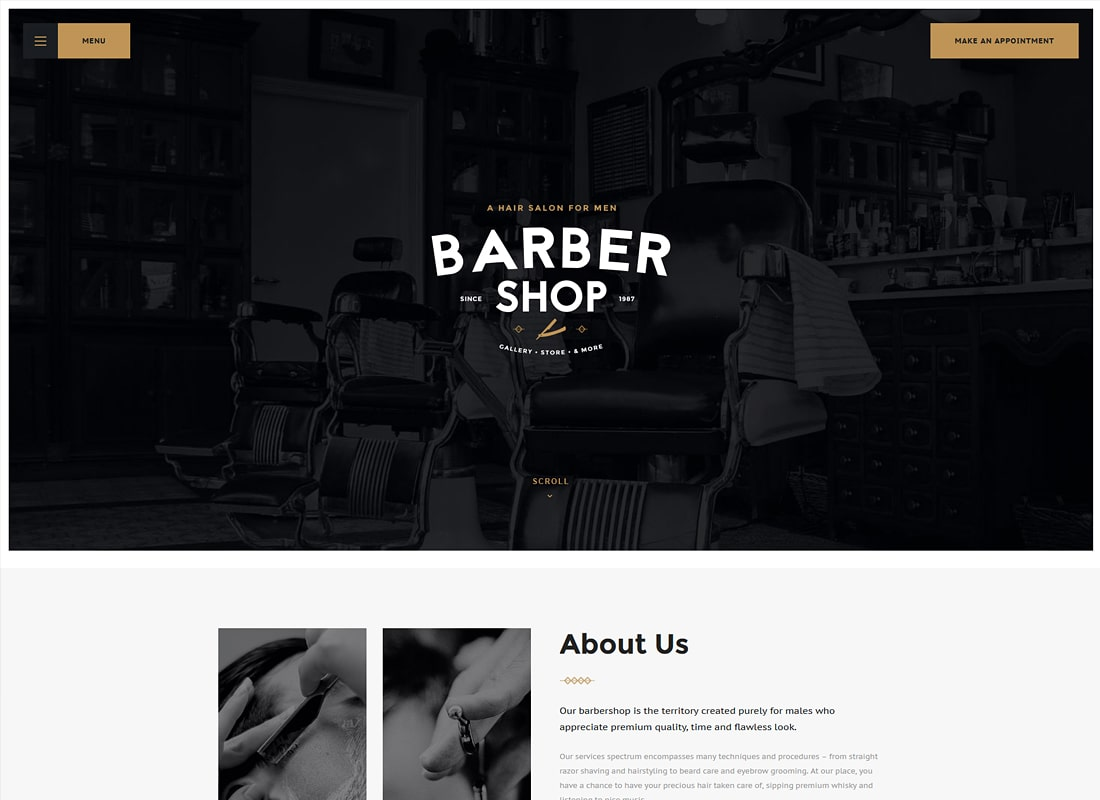 Salon | Barbershop & Tattoo Studio WordPress Theme Website Template