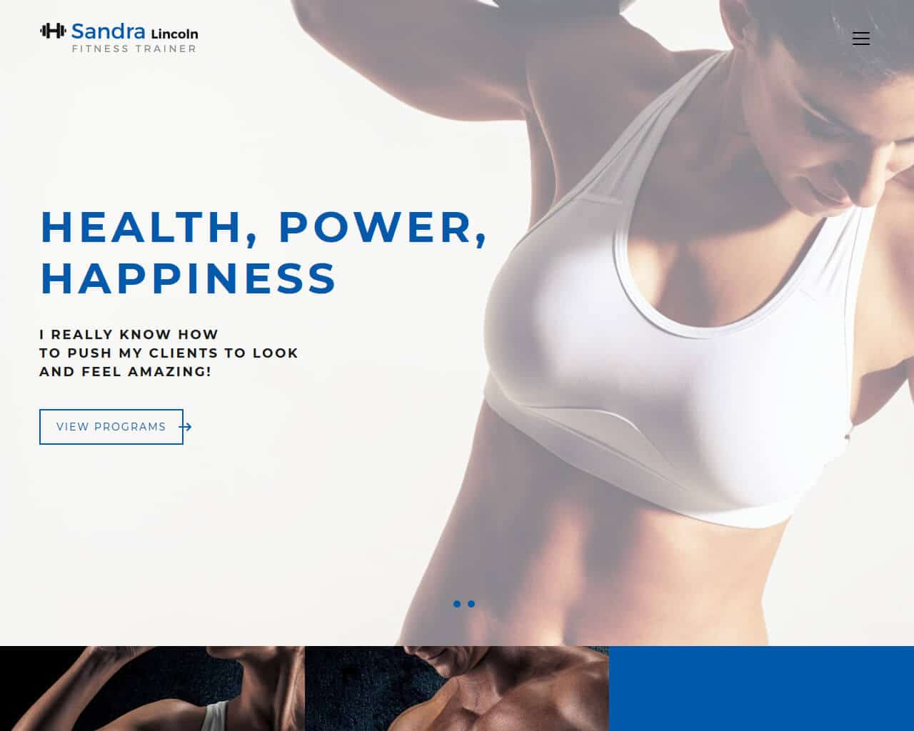 Sandra Lincoln Website Template