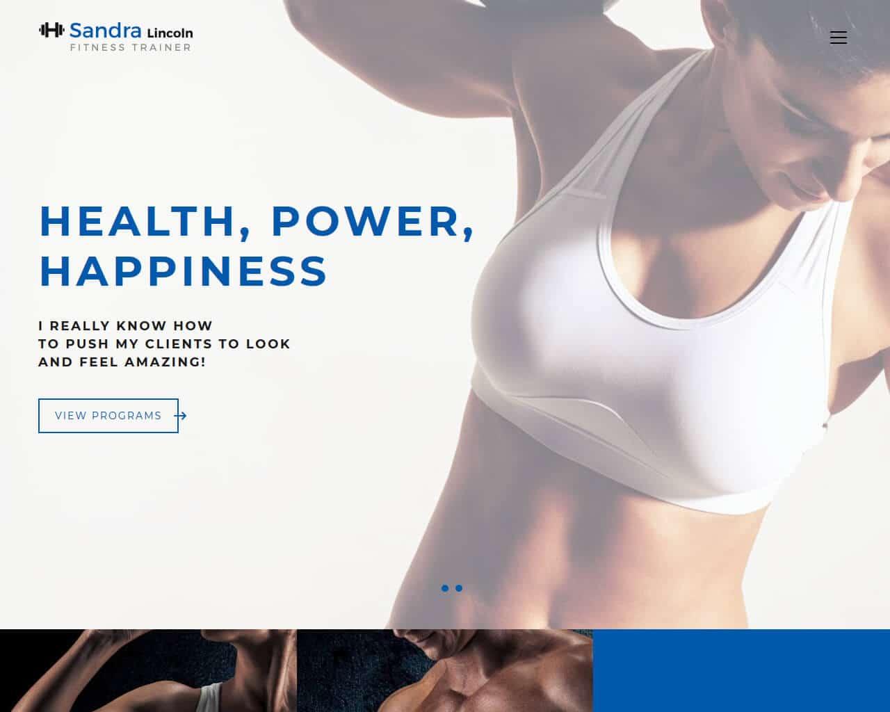Sandra Lincoln Website Template