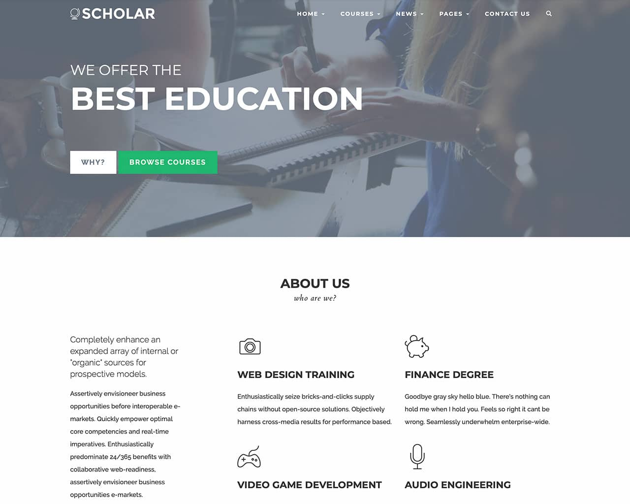 Scholar – Flexible Education Bootstrap Template