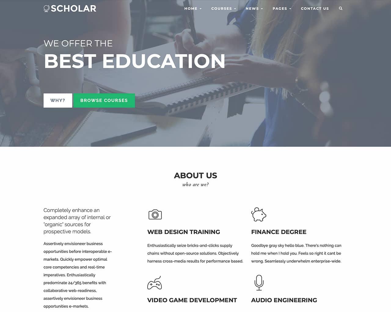 Scholar – Flexible Education Bootstrap Template