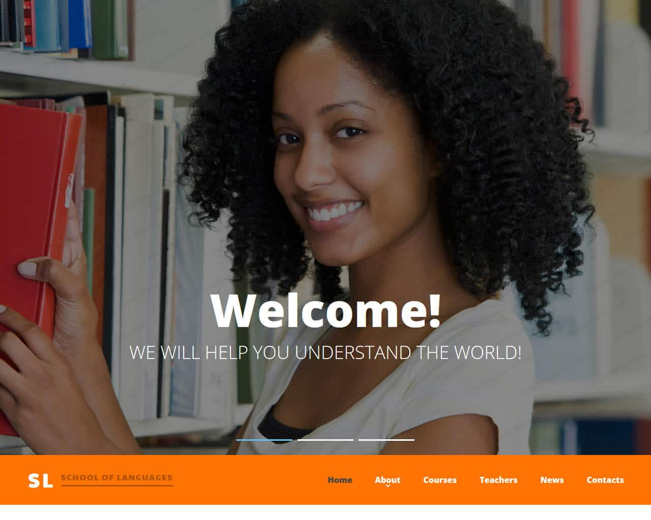 School of Languages Website Template