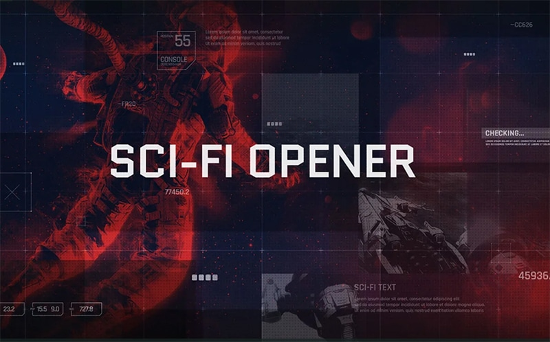 Sci-Fi Opener Website Template