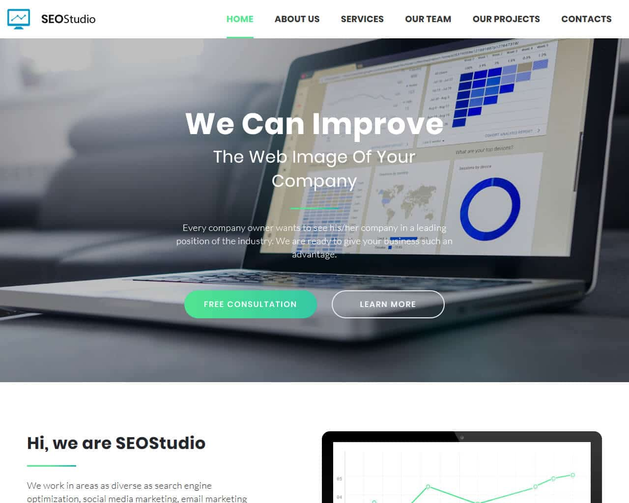SEO Studio Website Template