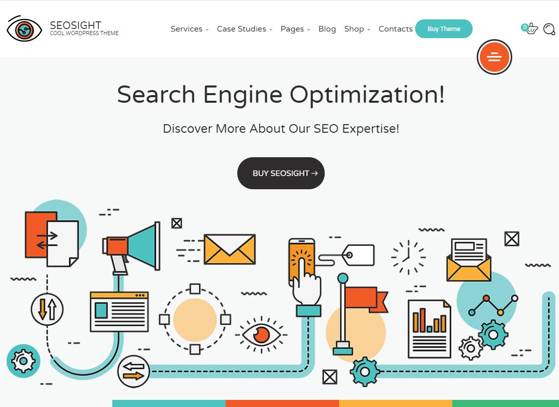 Seosight | SEO, Digital Marketing Agency WP Theme with Shop Website Template