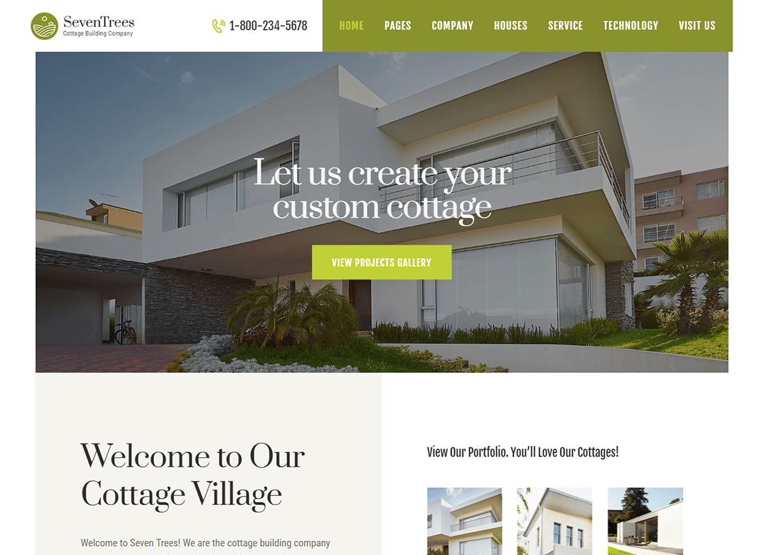 SevenTrees   Real Estate Property WordPress Theme Website Template
