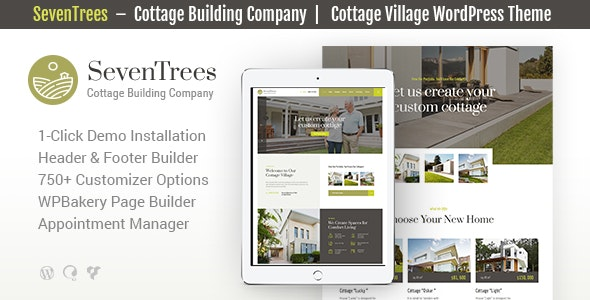 SevenTrees | Real Estate Property WordPress Theme Website Template