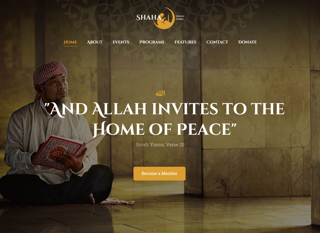 Shaha | Islamic Centre WordPress Theme + RTL Website Template
