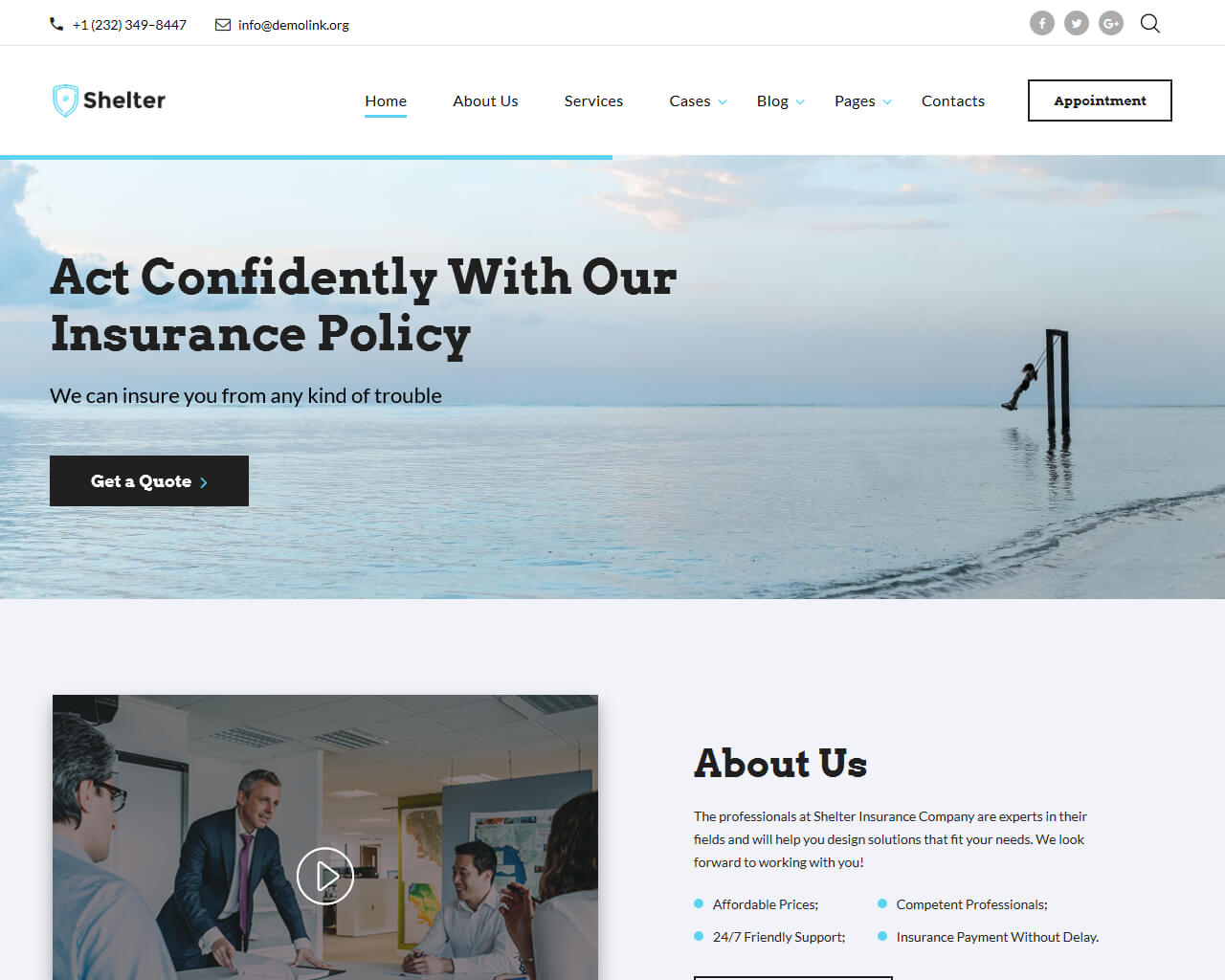 Shelter Website Template